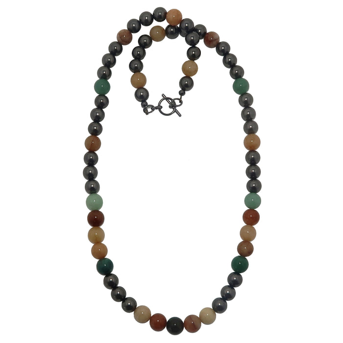 colorful aventurine beaded necklace