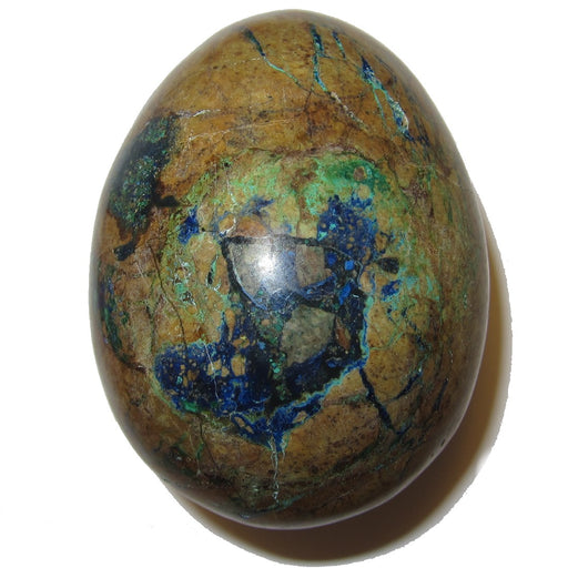 "Azurite Malachite Egg Intuitive Healing Stone Blue Green Gem C50 (Buried Treasure, 3"")"