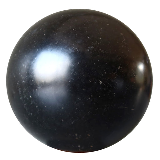 black basalt ball with gray inclusions