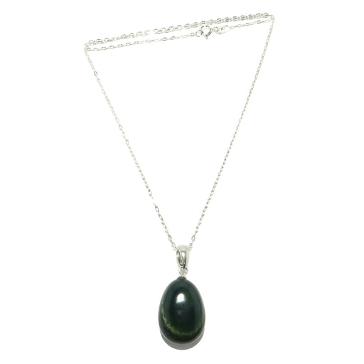Bloodstone Necklace Sterling Silver Genuine Green Red Gemstone Charm