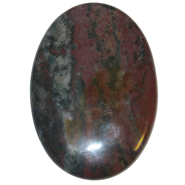 "Bloodstone Cabochon 2.8"" Collectible Top Quality Pick Green Red Oval C02"