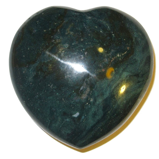 Bloodstone Heart 54 Jumbo Green Heart Courage Confidence Self Esteem Energy Stone 3""