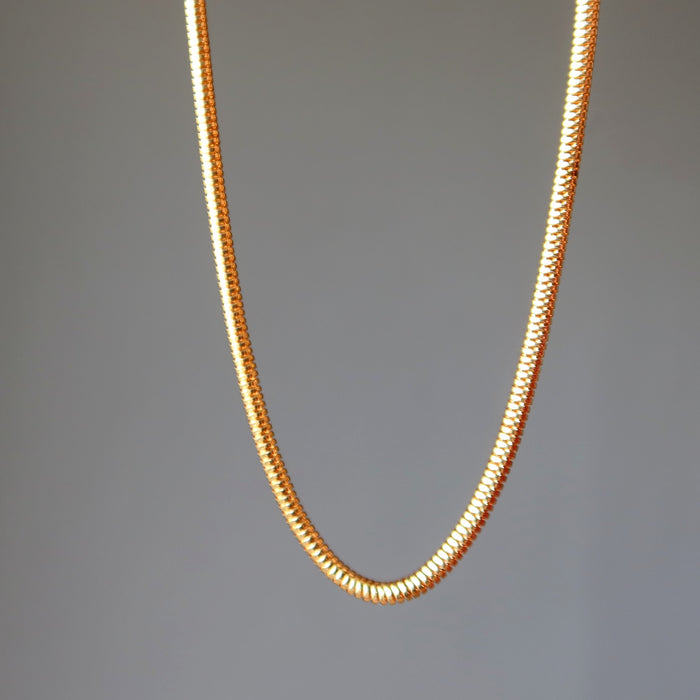 gold plated brass snake chain necklaces