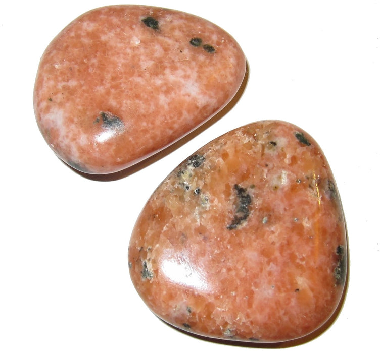 "Calcite Polished Stone Orange 2"" Collectible Sacral Chakra Energy Spark Stones Mineral Set Madagascar C02"