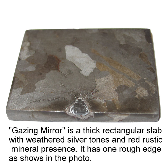 Campo Del Cielo Meteorite Meaning of Life Universe Answers Healing Silver Iron Space Stone Collectible C50 (Gazing Mirror, 1.5 inch)