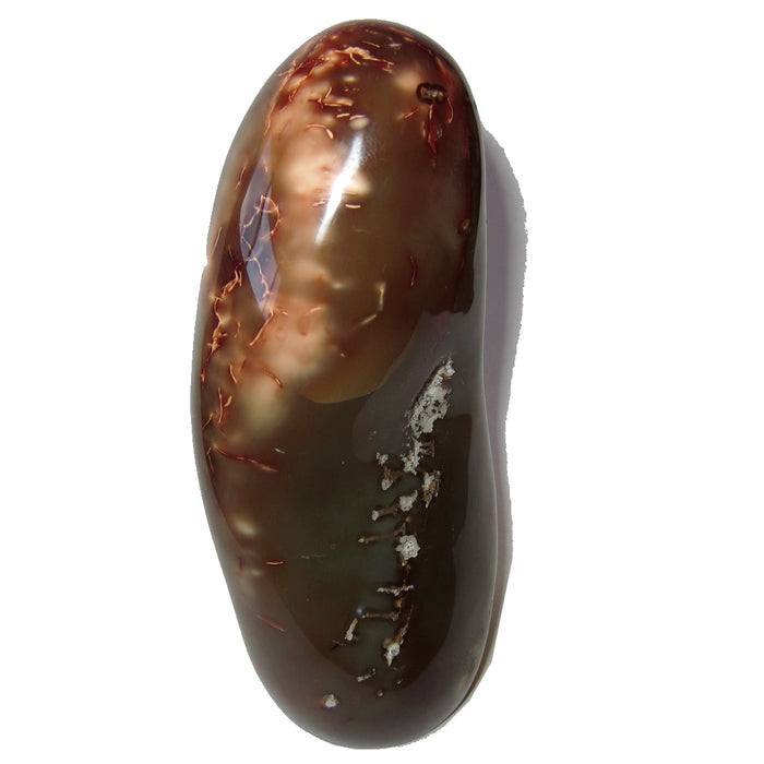 "Carnelian Polished Stone Collectible 5.0"" Red Orange Sculpture Positive Energy C50"