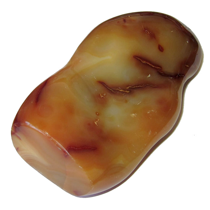 "Carnelian Polished Stone Collectible 5.8"" Red Orange Sculpture Positive Energy C50"