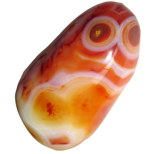 "Carnelian Polished Stone 3.2"" Collectible Funny Red Eye Monster Rock C03"