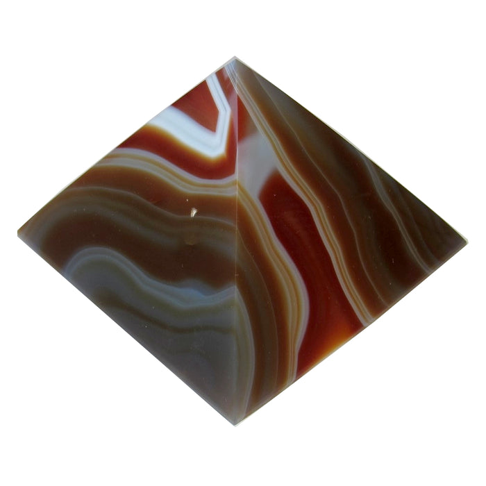 Carnelian Pyramid 53 Wild Red White Lace Crystal with Quartz Cluster Mineral Healing Stone 3.5""