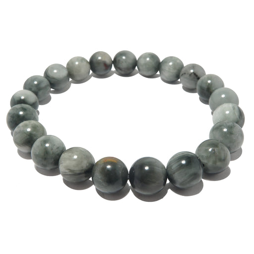 gray cats eye quartz bracelet beaded in 8mm beads