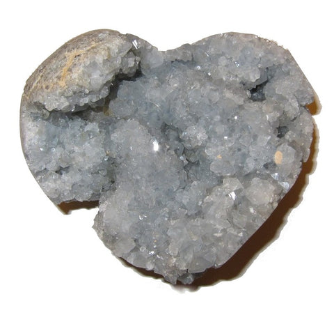 Celestite Cluster 02 Stunning Heart Shape Crystal Heavenly Love Energy Stone Gift 5""