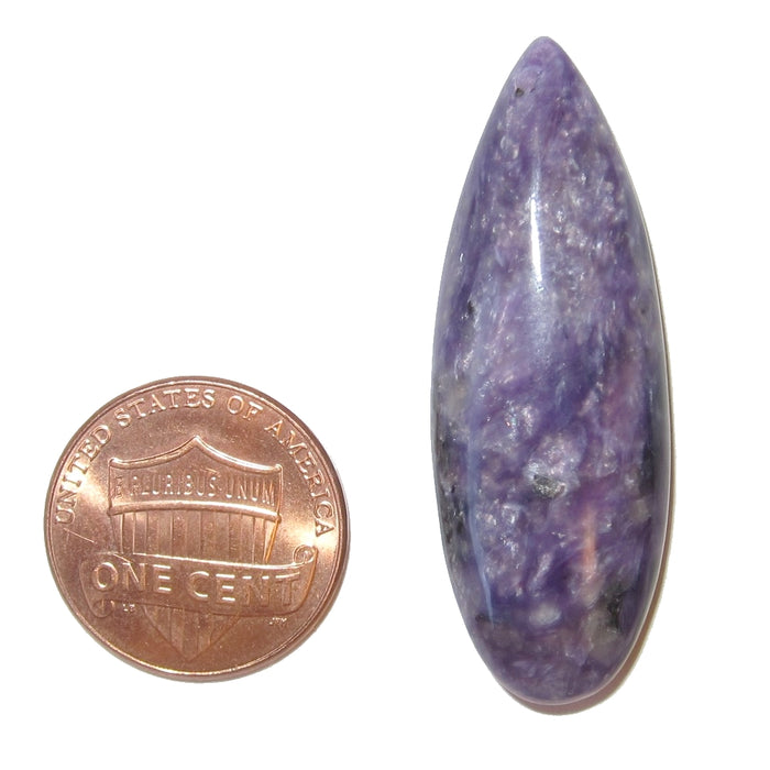 Charoite Cabochon Collectible Exquisite Purple Shimmer Sheen Royal Soul Gemstone C05 (1.5 inch)