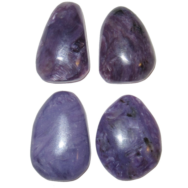 Charoite Cabochon 19-21mm Collectible Set of 4 Precious Purple Stones C01