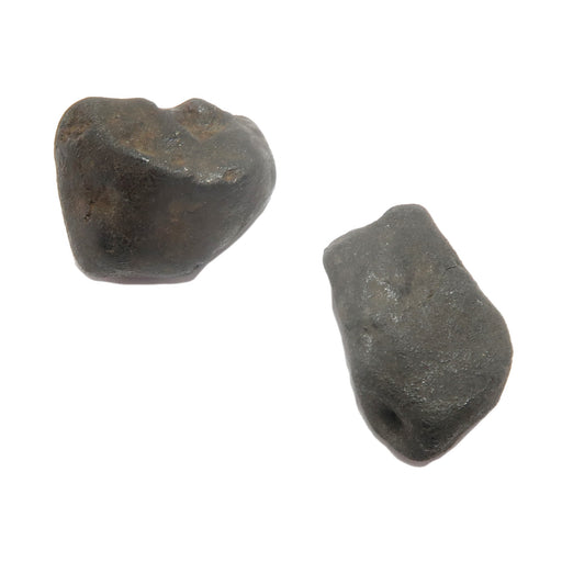 two brown rocky chelyabinsk meteorites