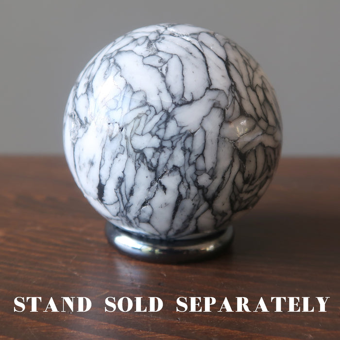 chrysanthemum stone sphere on hematine ring stand which is sold separately