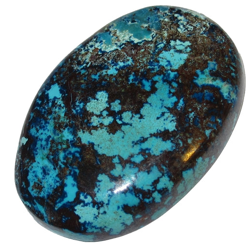 "Chrysocolla Cabochon 1.4"" Collectible Turquoise Floral Bloom C01"