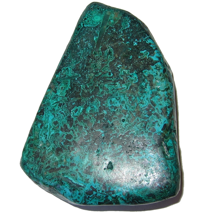 "Chrysocolla Polished Stone 3.5"" Collectible Amazonian Turquoise Crystal Green Malachite Stress Worry Release Mineral C50"