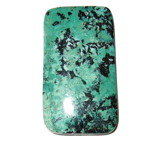 "Chrysocolla Cabochon Polished Stone 1.5"" Collectible Rectangle Crystal Rare Sonora Sunset Mineral Cab Healing Gemstone C54"