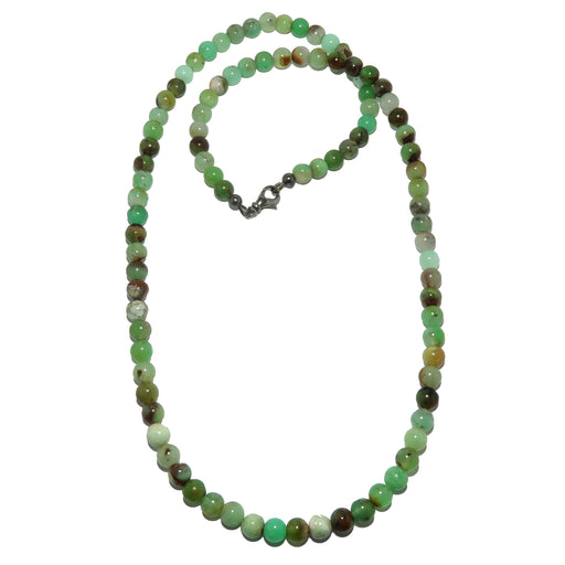 chrysoprase beaded necklace