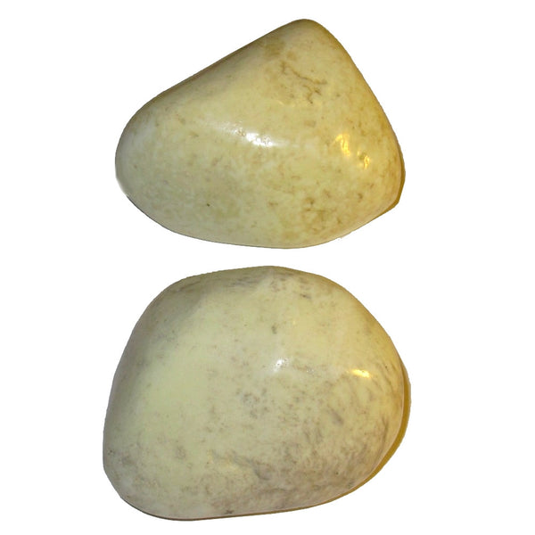 "Chrysoprase Polished Stone 2.3"" Collectible Pair of Spring Green Yellow Meditation Crystals Positive Emotions Energy Rocks C52"
