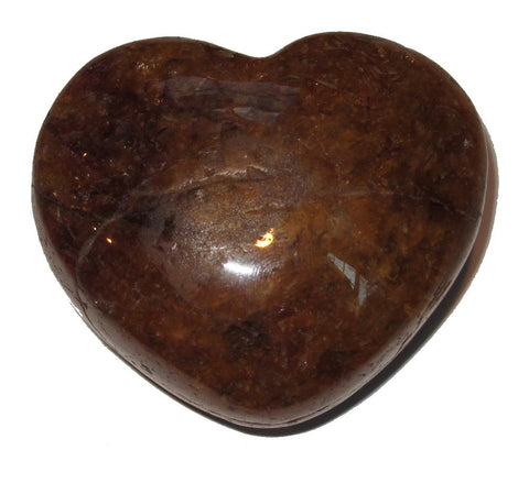 Citrine Heart 02 Very Plump Golden Crystal Intense Love Healing Energy Gift Box 2.3""