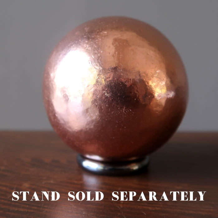 copper sphere on hematine ring stand which is sold separately