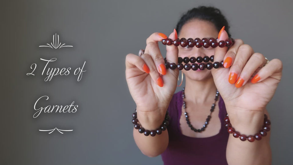 video on wearing garnet bracelets