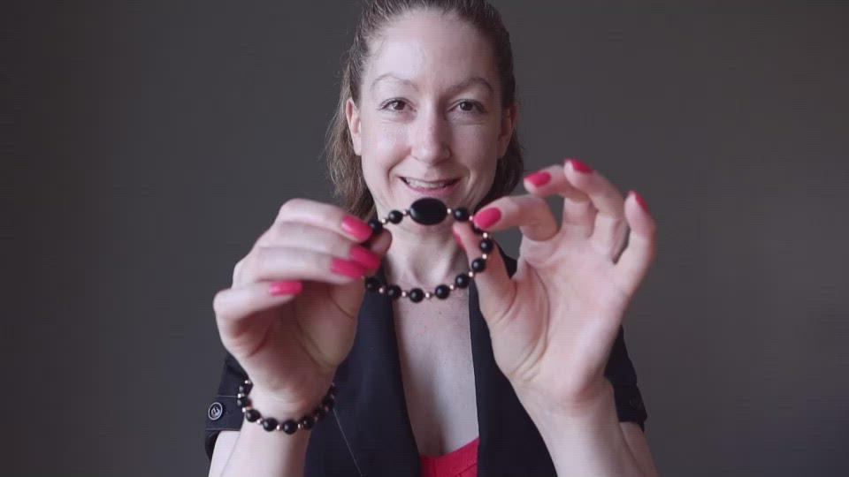 video showcasing the jet deflector bracelet on female model
