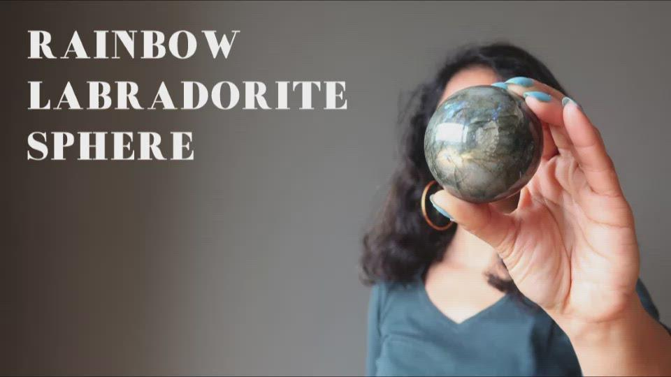 rainbow labradorite sphere video