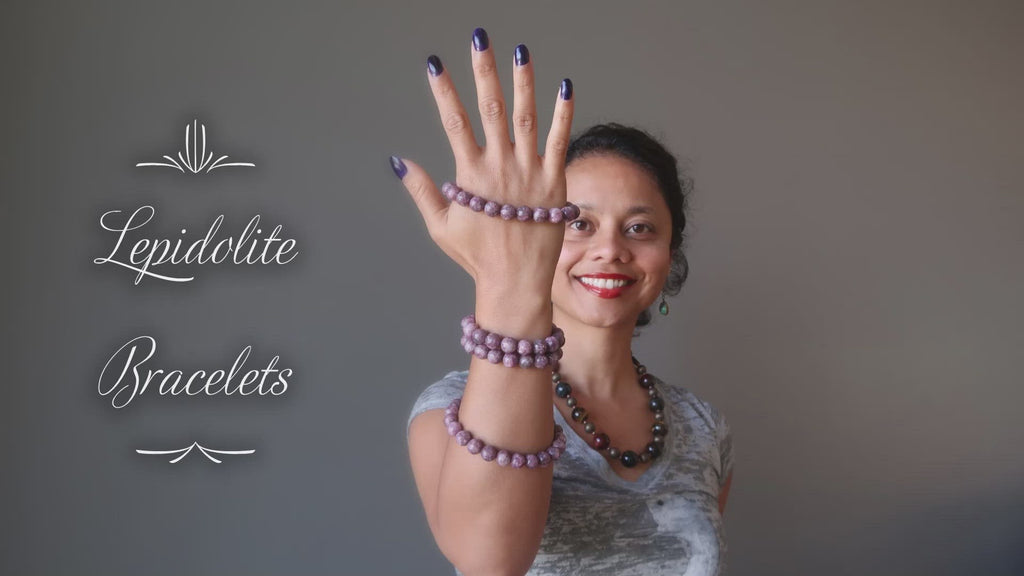 video about lepidolite bracelets
