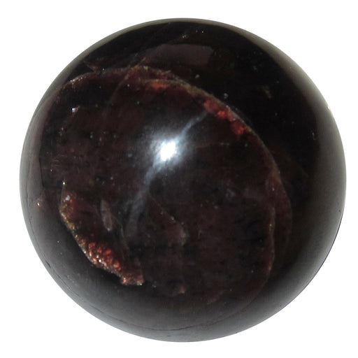 Real deep red Garnet mineral formed into a crystal ball shape