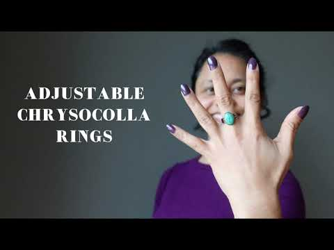 video featuring chrysocolla gunmetal ring
