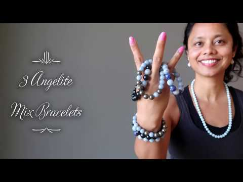 video on angelite pyrite stretch bracelets