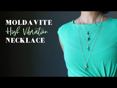 video on moldavite necklaces