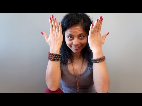 video on wearing red lava and indian bloodstone round beaded stretch bracelets