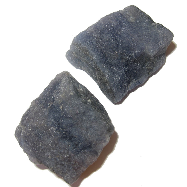 Iolite Raw Gemstone Premium Pair of Blue Rough Stone Financial Helper Debt Elimination P02