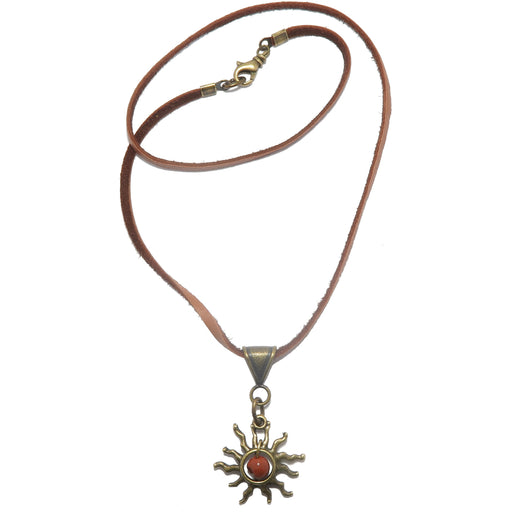 red jasper sun necklace