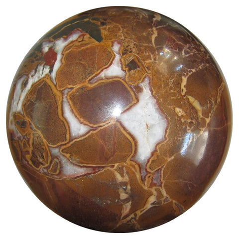 Jasper Ball Snake 27 Rare Xl Brown Picture Crystal Healing Sphere 21+lbs Show Piece Stone 8""