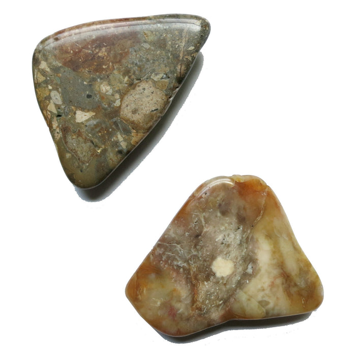 Jasper Magnet Set One-of-Kind Mottled Brown Stone Unique Gift Pair