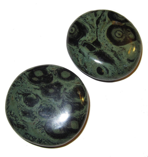 "Jasper Polished Stone Green 2.1"" Collectible Pair Crocodile Kambala Meditation Healing Crystals C02"