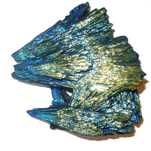 "Kyanite Cluster 3.2"" Collectible Titanium Stone Eagle's Nest Howling Wolves C05"