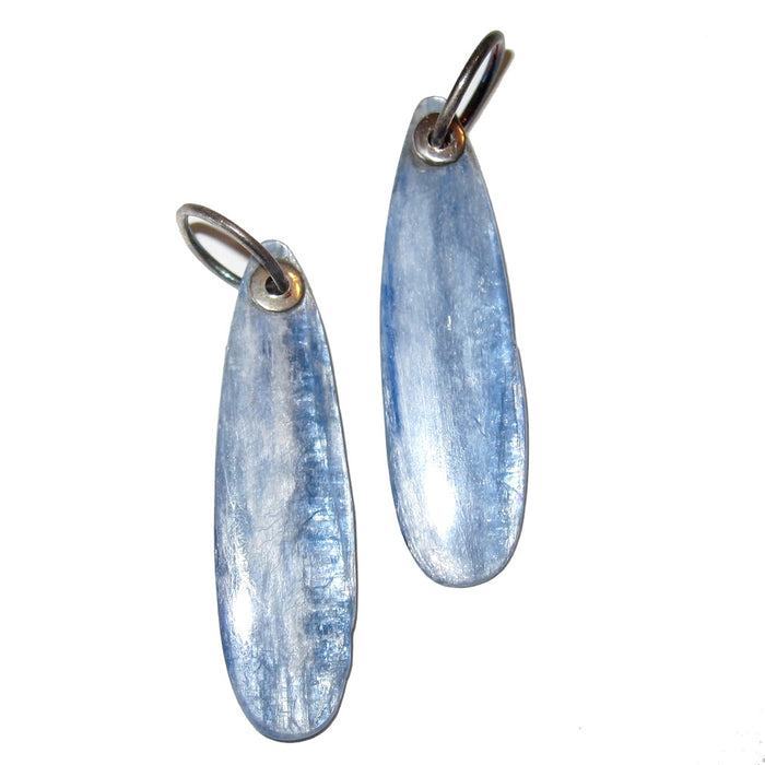 "Kyanite Pendant 2"" Blue Sheen Crystal Healing Stone Throat Chakra Polished Gemstone 01a"