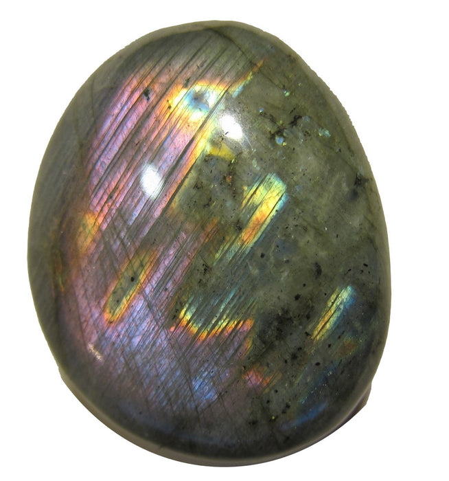 "Labradorite Polished Stone 2.3"" Collectible Best Rainbow Pink Colorful Gemstone Light Worker Healing Gem C18"