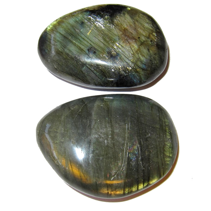 Labradorite Polished Stone 64 Pair of 2 Rainbow Crystals Protective Palm Meditation Set 2""