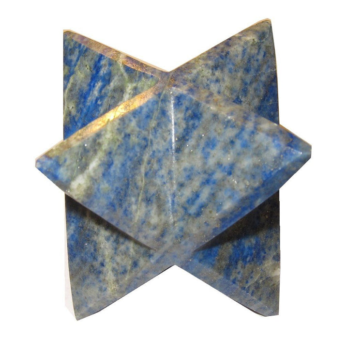 "Lapis Merkaba (2"") Collectible  Royal Blue Crystal Sacred Geometry Polygon Mineral Rock C02"