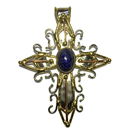 Lapis Pendant 22 Cross Spiritual Lightworkers Blue Stone - I Dig Crystals