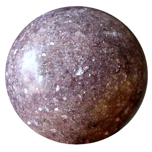 purple lepidolite sphere