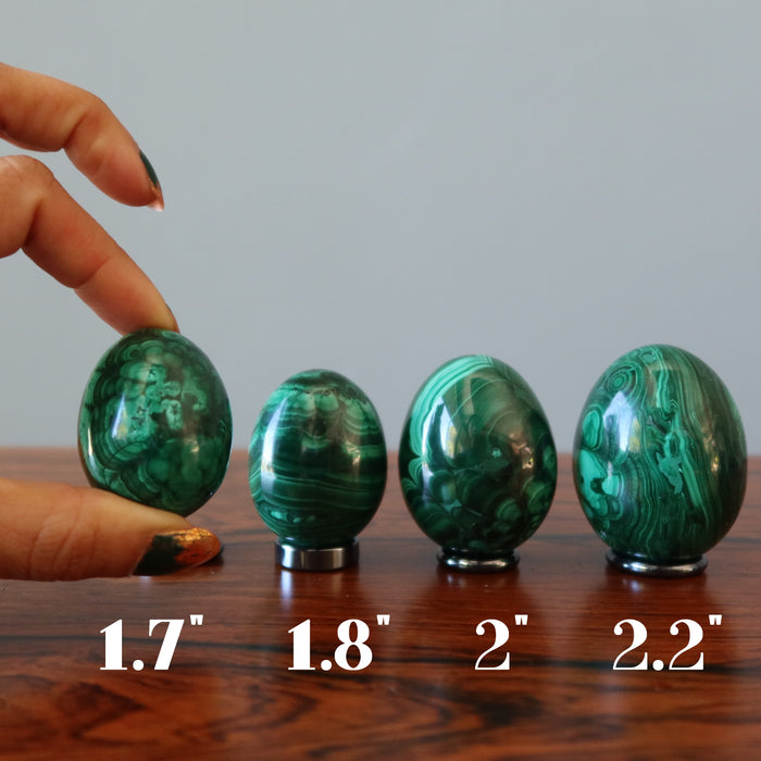 Malachite Egg Vivid Green Garden of Life Spring Easter Decor Gem