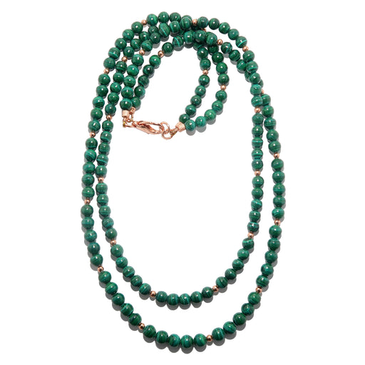 double strand malachite necklace