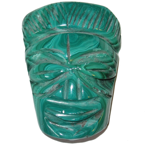 "Malachite Cabochon 1.5"" Specialty Green Hand Made African Medicine Man S14"